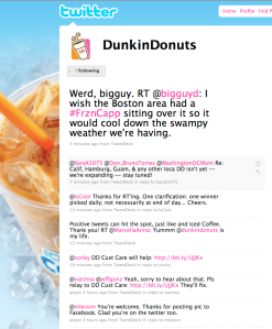 Dunkin' Donuts Twitter Messages