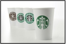 The evolution of the Starbucks logo. The latest drops the name.