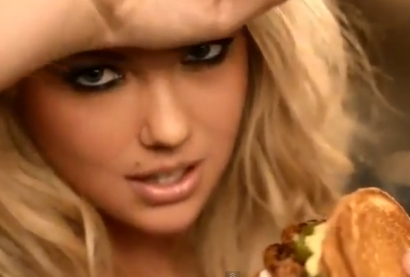 Kate Upton says that Carl's Jr. sandwich is spicy